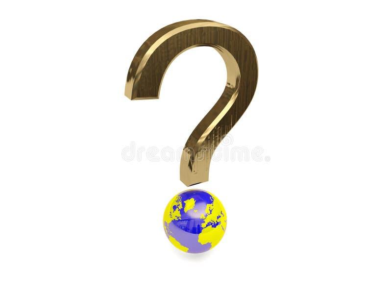 Punto interrogativo globale royalty illustrazione gratis