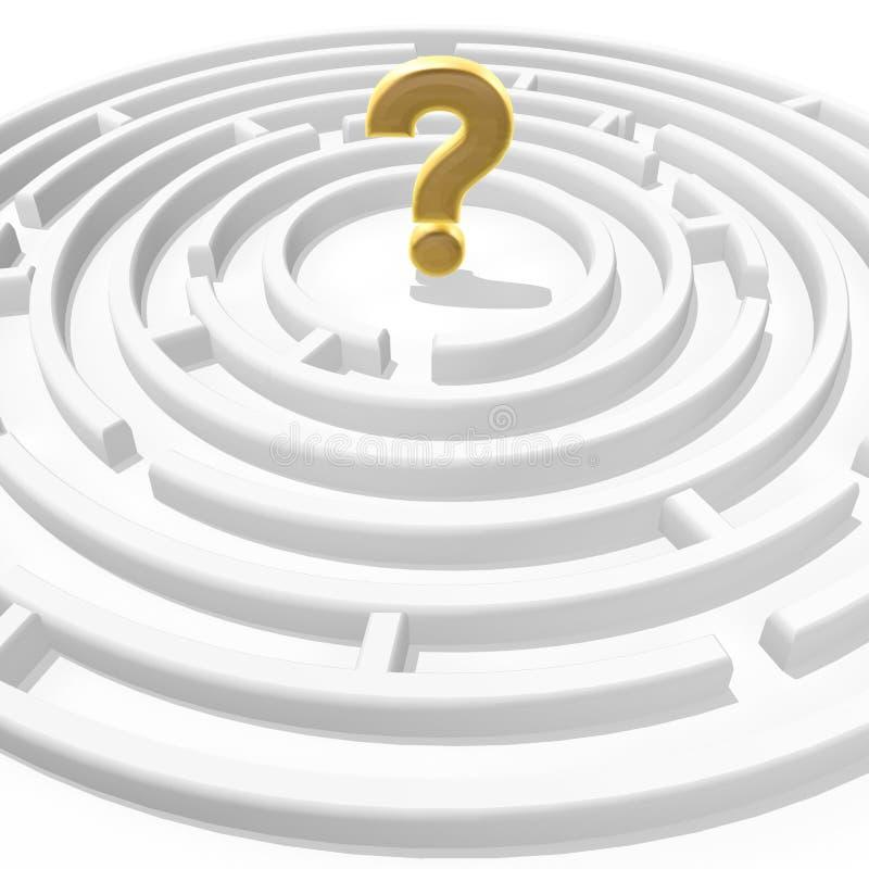 Punto interrogativo in labirinto illustrazione vettoriale