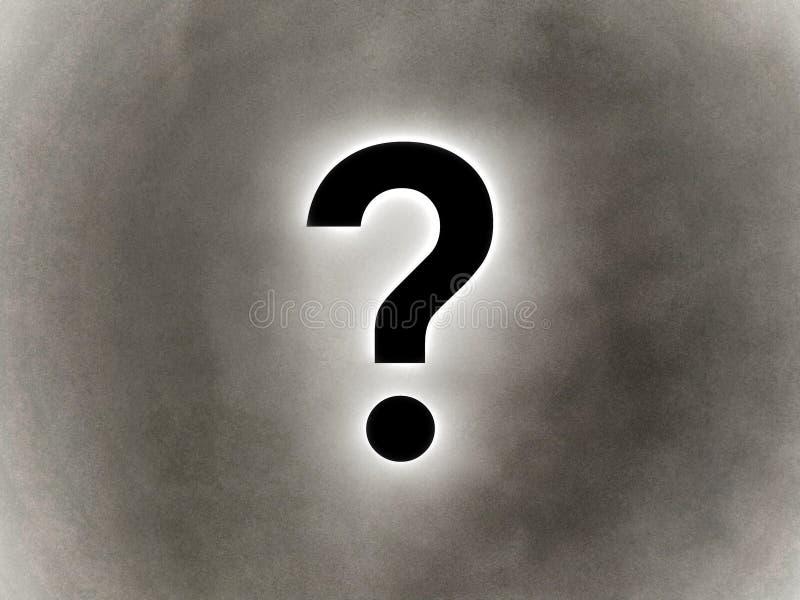 Punto interrogativo nel colore nero su un fondo del grano royalty illustrazione gratis