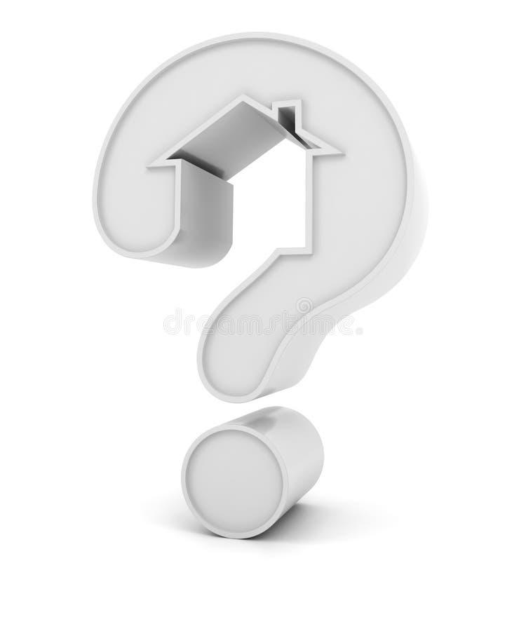 Punto interrogativo sotto forma di una casa royalty illustrazione gratis
