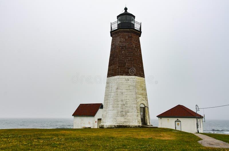 Punto Judith Lighthouse - Narragansett, Rhode Island fotografia stock