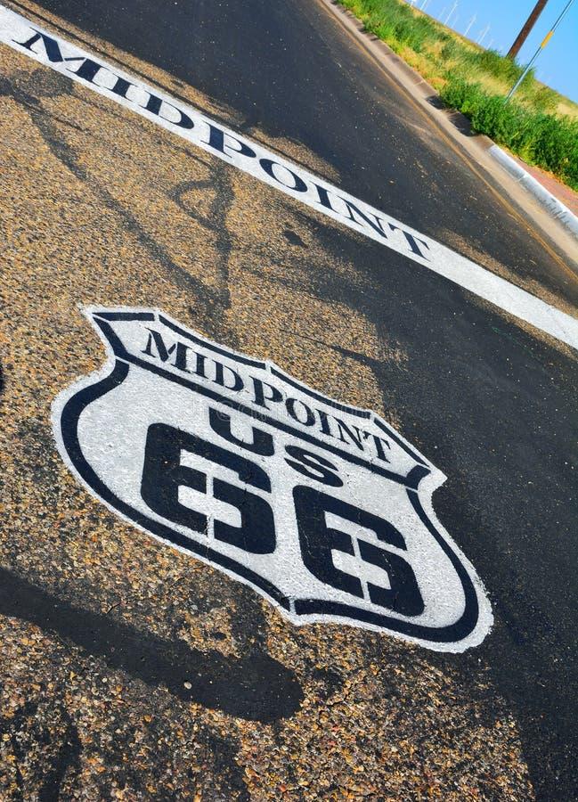Punto mediano in Route 66 storico fotografia stock