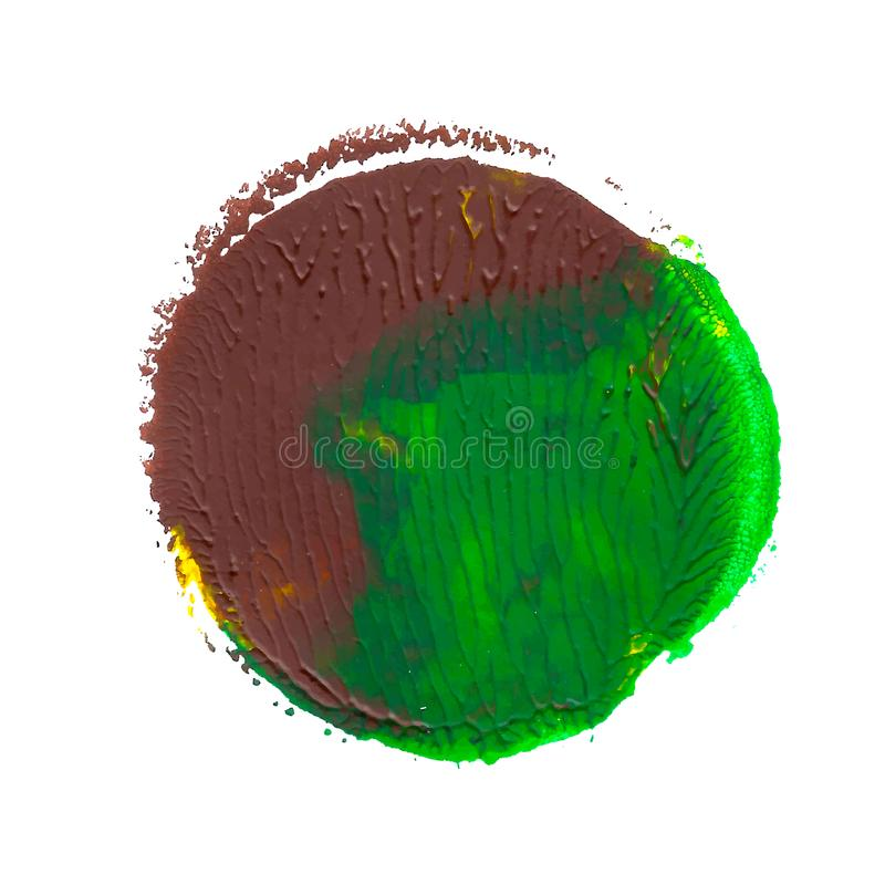 Punto monotyped pintura acrílica abstracta Verde, amarillo, marrón Colores brillantes libre illustration