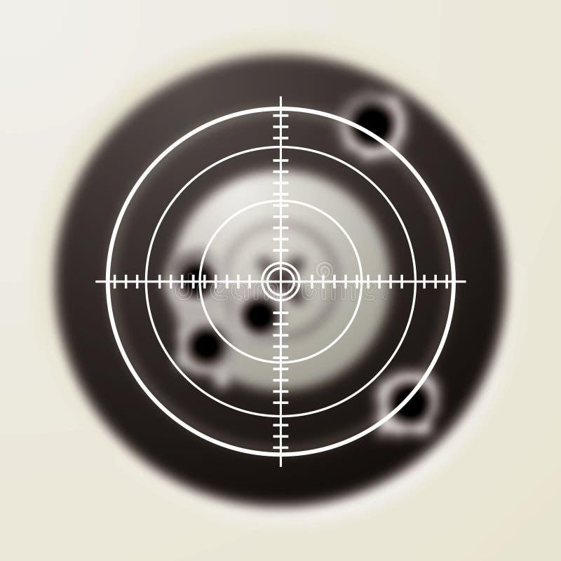 Punto negro de la blanco ilustración del vector