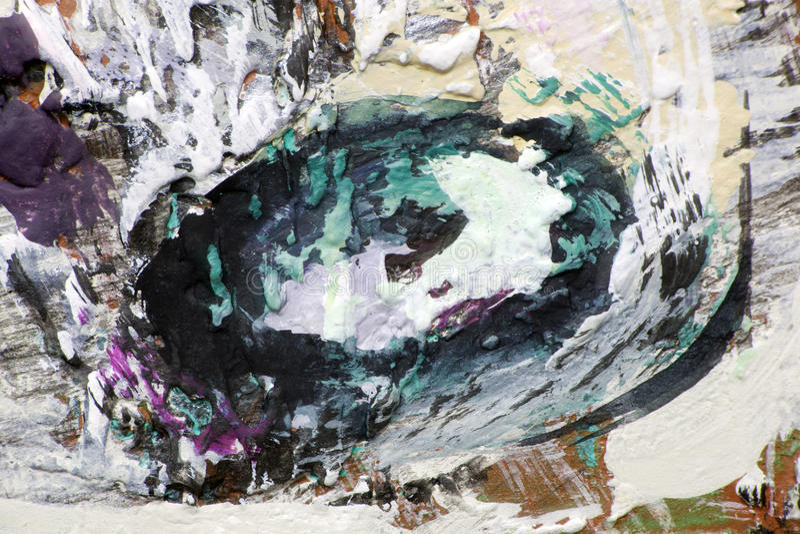 Punto oval de la pintura en una lona fotografía de archivo
