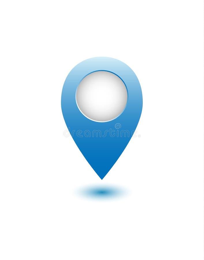 Punto realistico blu della mappa fotografia stock libera da diritti
