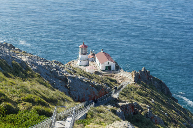 Punto Reyes Lighthouse in California fotografie stock