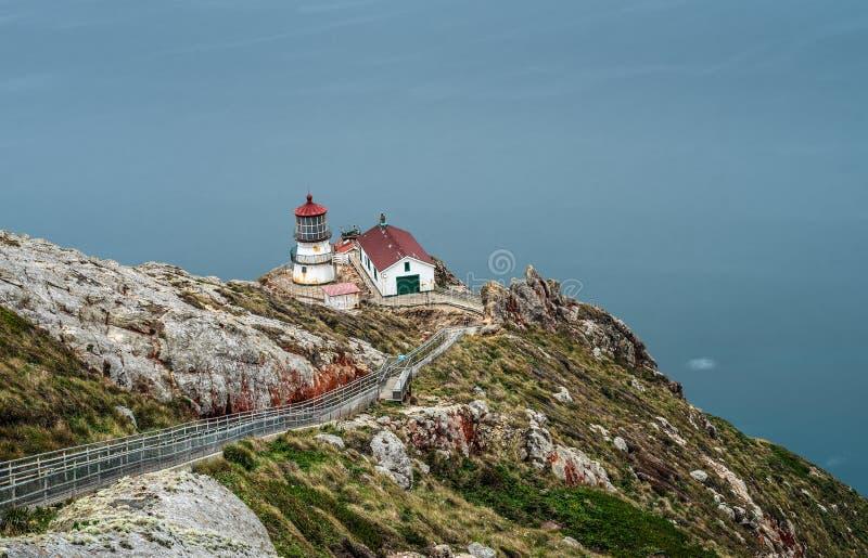 Punto Reyes Lighthouse in California fotografia stock libera da diritti