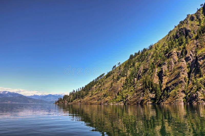 Punto ventoso, lago Pend Oreille fotografia stock libera da diritti