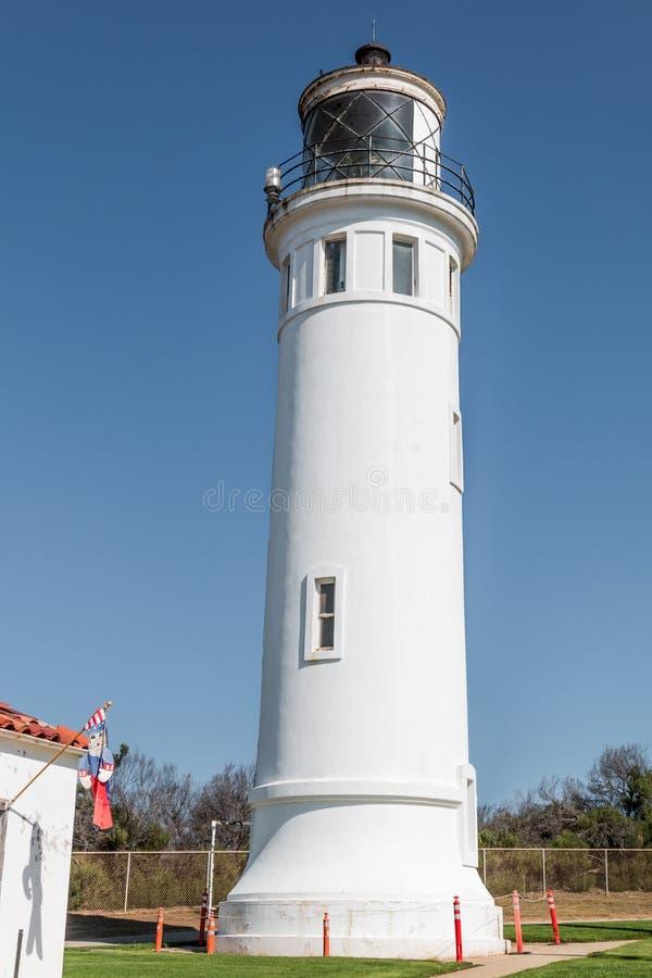 Punto Vicente Lighthouse, actuado por U S Guardacostas en CA fotografía de archivo libre de regalías