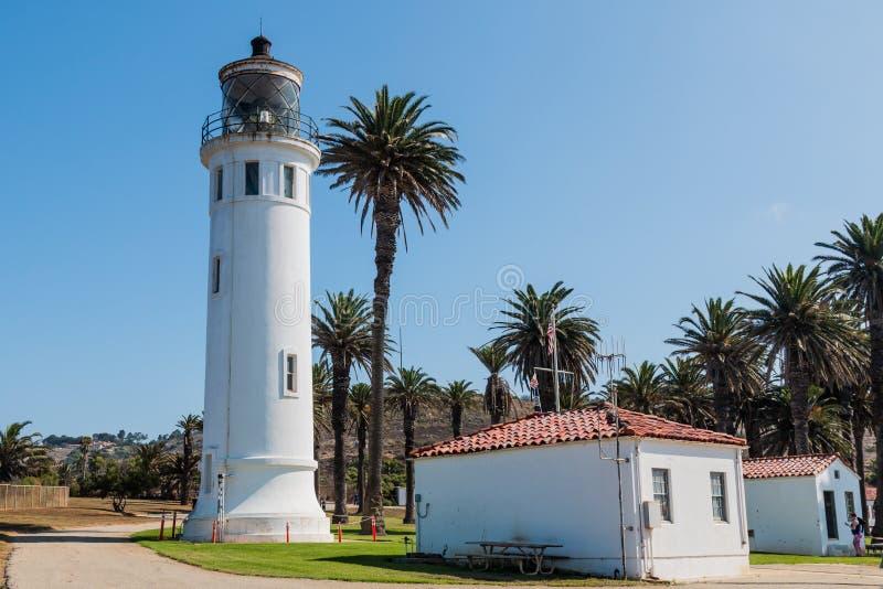 Punto Vicente Lighthouse y museo en California foto de archivo