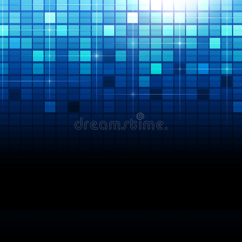 Puntos azules del cuadrado de la tecnología libre illustration