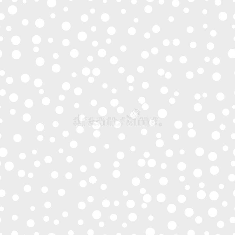 Puntos caóticos en un modelo inconsútil del fondo gris ilustración del vector