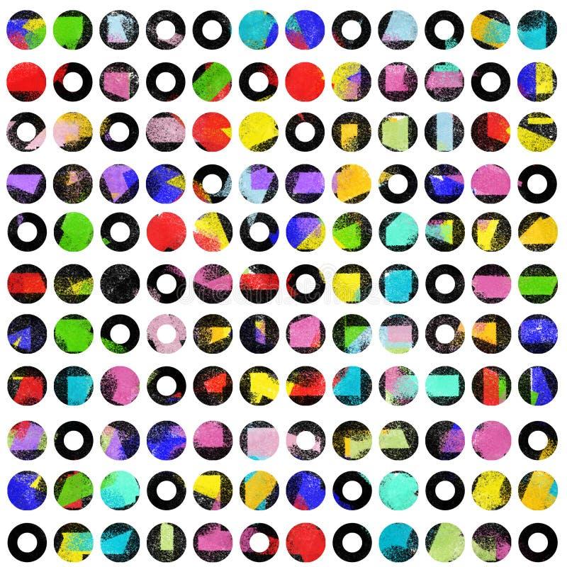 Puntos coloreados del alto contraste en blanco imagenes de archivo