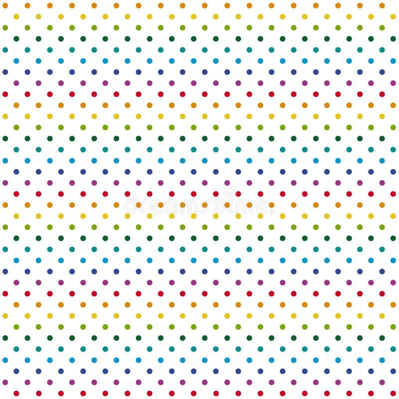 Puntos coloridos sin fin del fondo stock de ilustración