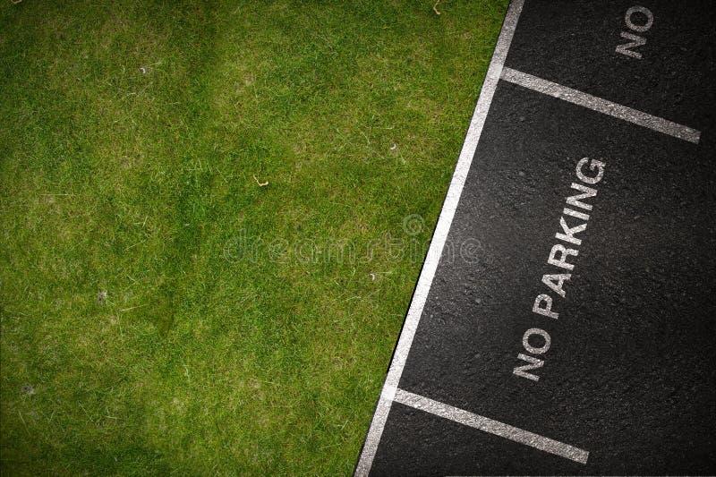 Puntos de estacionamiento prohibido imagen de archivo libre de regalías