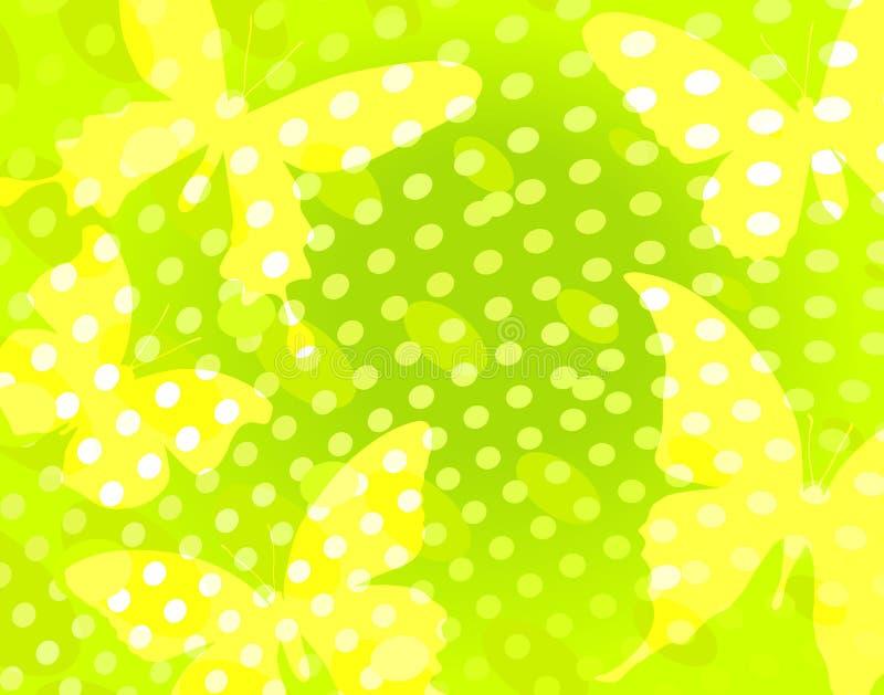 Puntos de la mariposa libre illustration