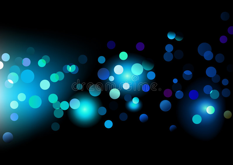 Puntos de luces stock de ilustración