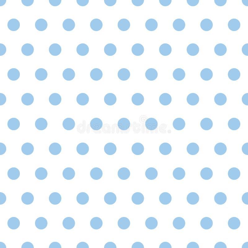 Puntos de polca del azul de bebé ilustración del vector