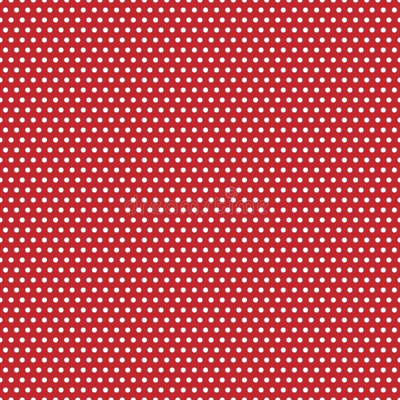 Puntos de polca rojos y blancos stock de ilustración