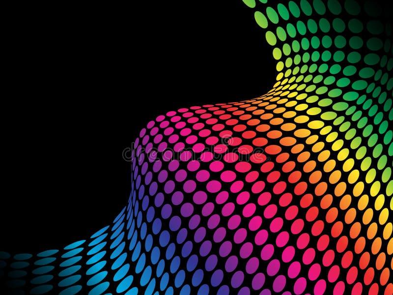 Puntos de semitono del arco iris ilustración del vector