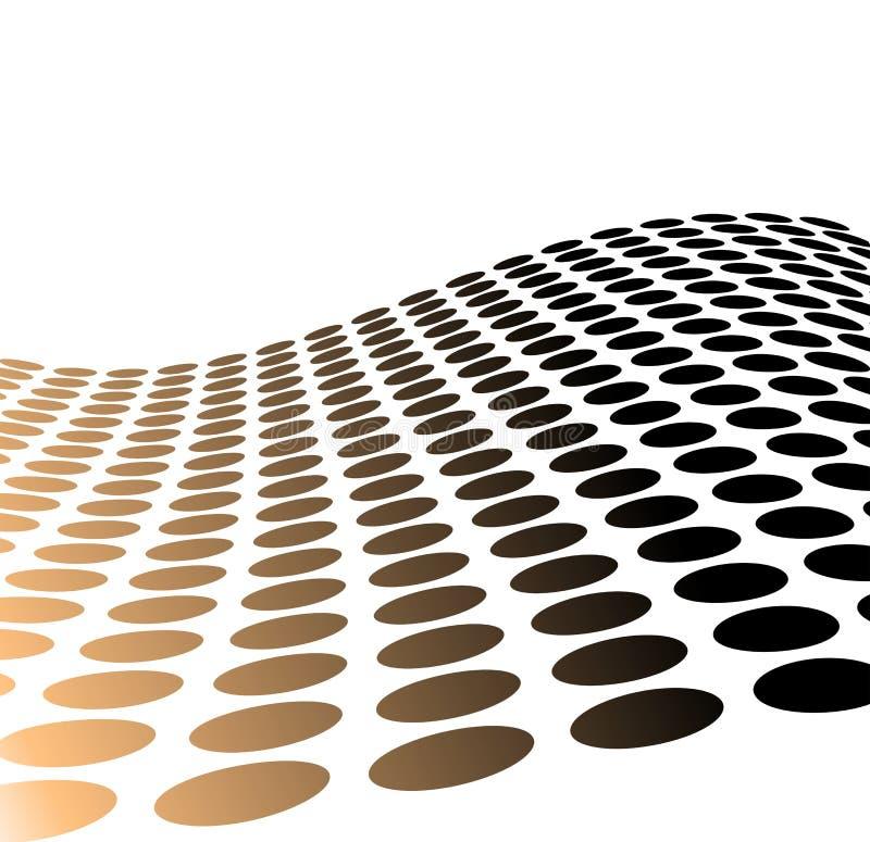 Puntos de semitono metálicos para el uso del fondo ilustración del vector