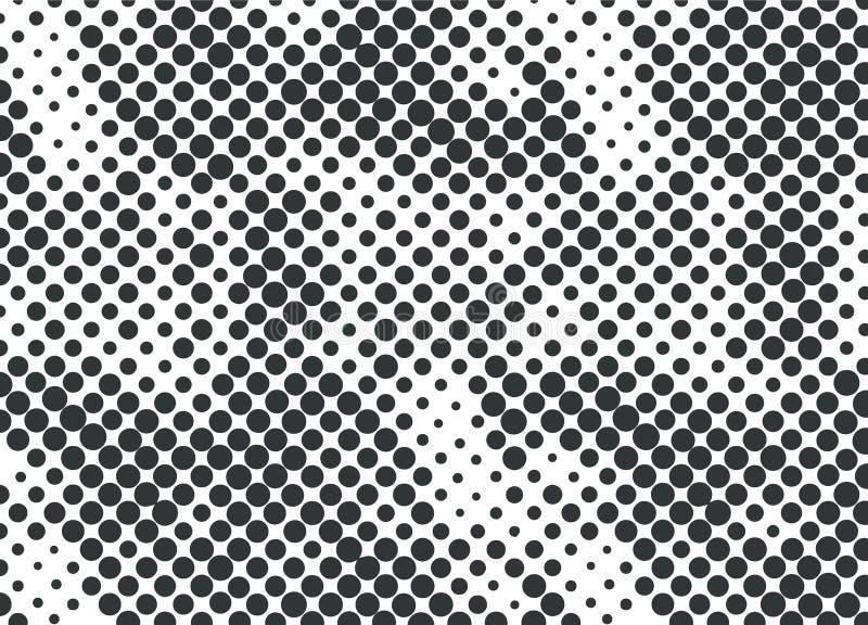 Puntos de semitono, negros en un fondo blanco ilustración del vector
