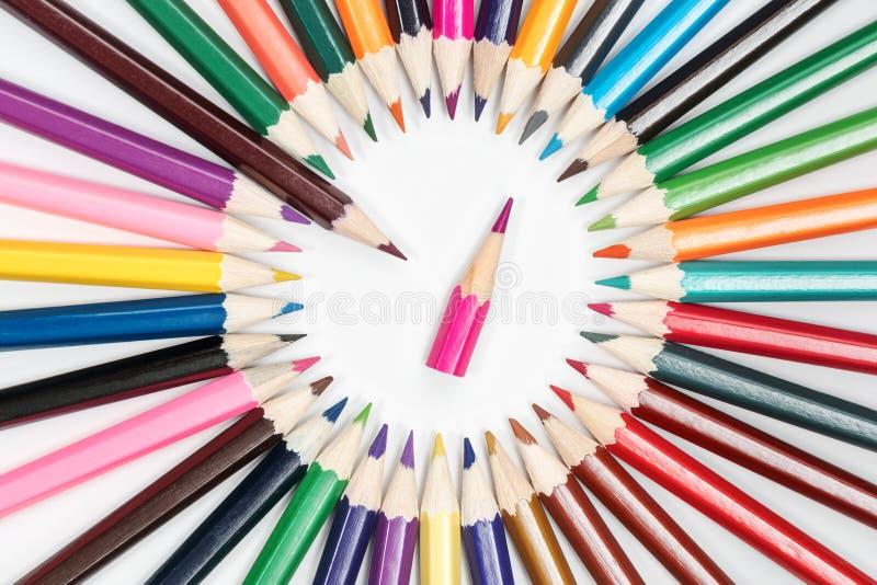 Puntos de un lápiz a otro foto de archivo