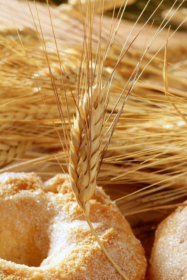 Puntos deliciosos del azúcar y del trigo de la panadería del rodillo imagen de archivo libre de regalías