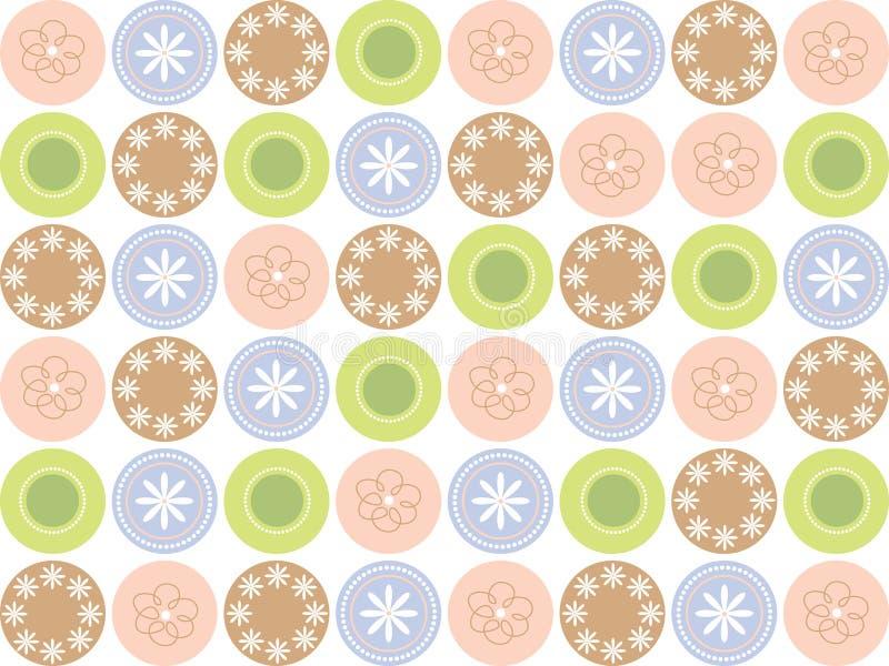 Puntos dulces retros de la flor libre illustration