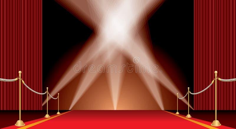 Puntos en la alfombra roja stock de ilustración