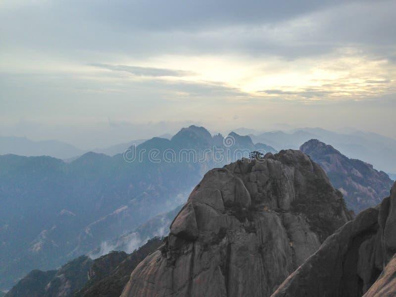 Puntos escénicos en el soporte provincia de Huangshan, Anhui, China fotografía de archivo libre de regalías