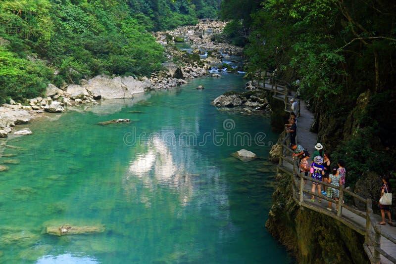 Puntos escénicos importantes de la provincia de Guizhou de China siete fotografía de archivo libre de regalías