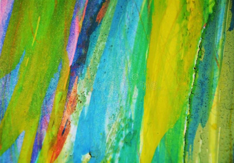 Puntos fangosos rosados púrpuras del verde azul, fondo creativo de la acuarela de la pintura imagen de archivo