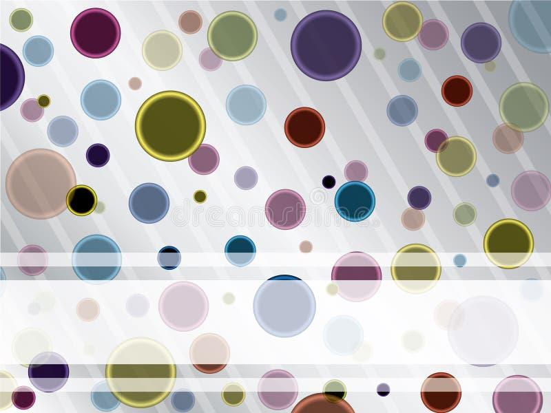 Puntos frescos en el contexto gris stock de ilustración
