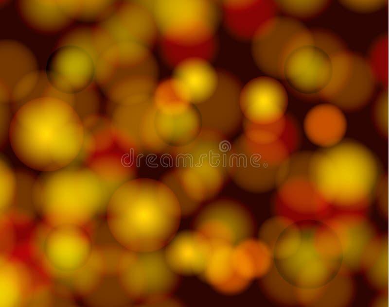 Puntos ligeros abstractos del vector, fondo de oro del vintage del brillo foto de archivo