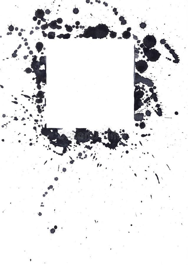 Puntos negros de la tinta fotografía de archivo libre de regalías