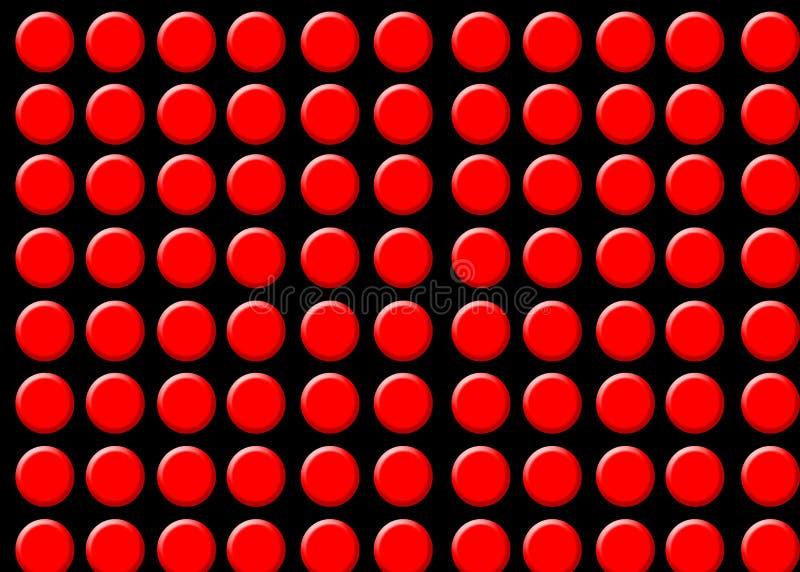 Puntos rojos fotos de archivo libres de regalías