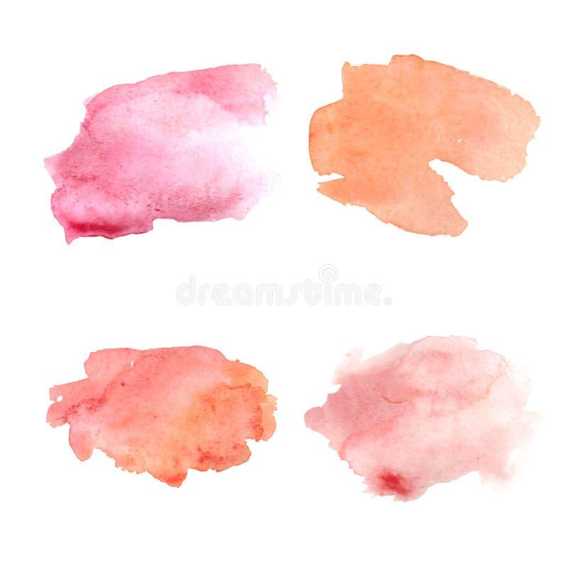 Puntos rosados abstractos de la acuarela fijados libre illustration