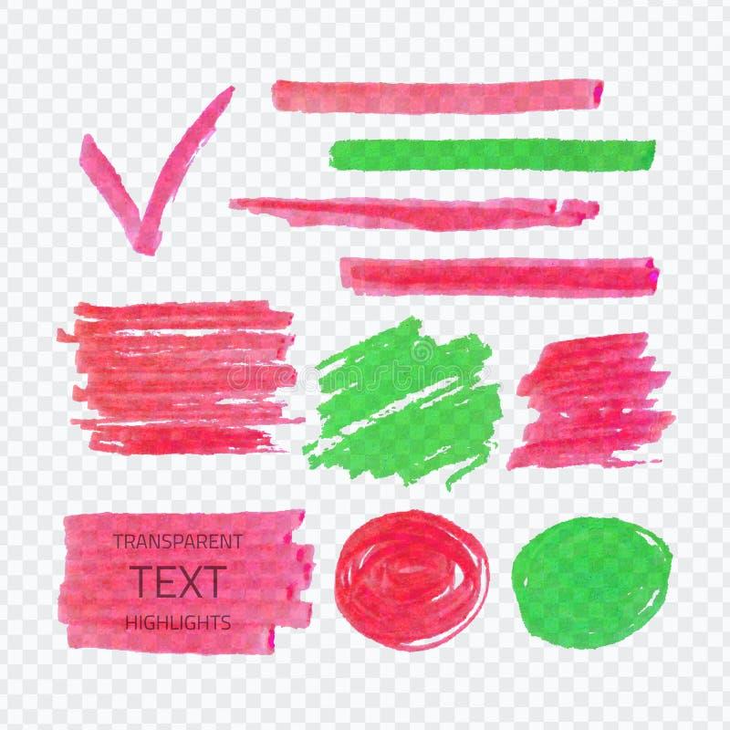 Puntos transparentes del highlighter libre illustration