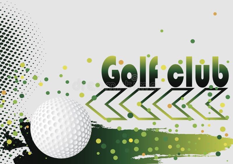 Puntos verdes Fondo del club de golf ilustración del vector
