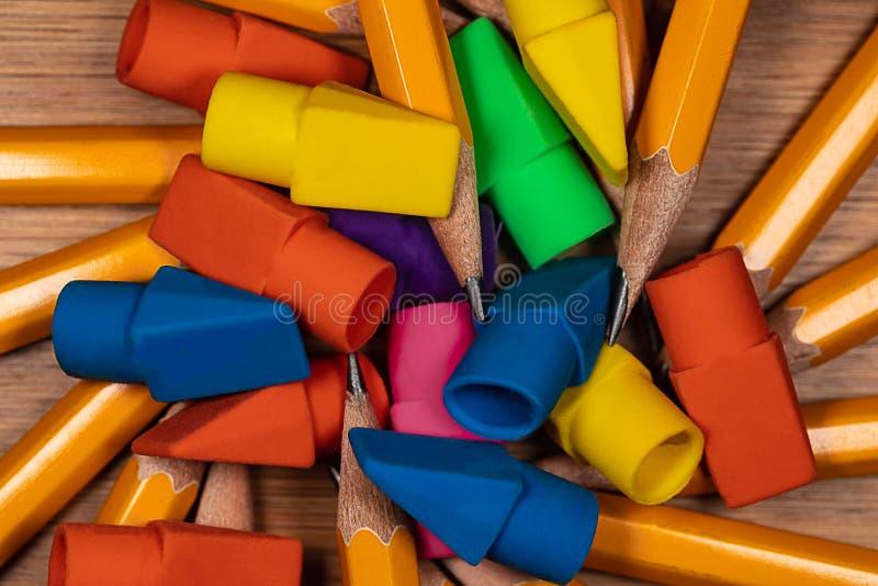 Puntos y borradores del lápiz imagen de archivo libre de regalías