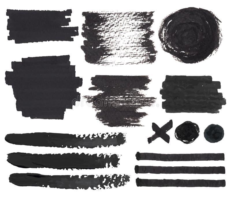 Puntos y marcas de la pluma del fieltro libre illustration