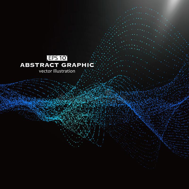 Puntpatroon uit netwerk, Technologische betekenis wordt samengesteld van abstracte grafiek die stock illustratie