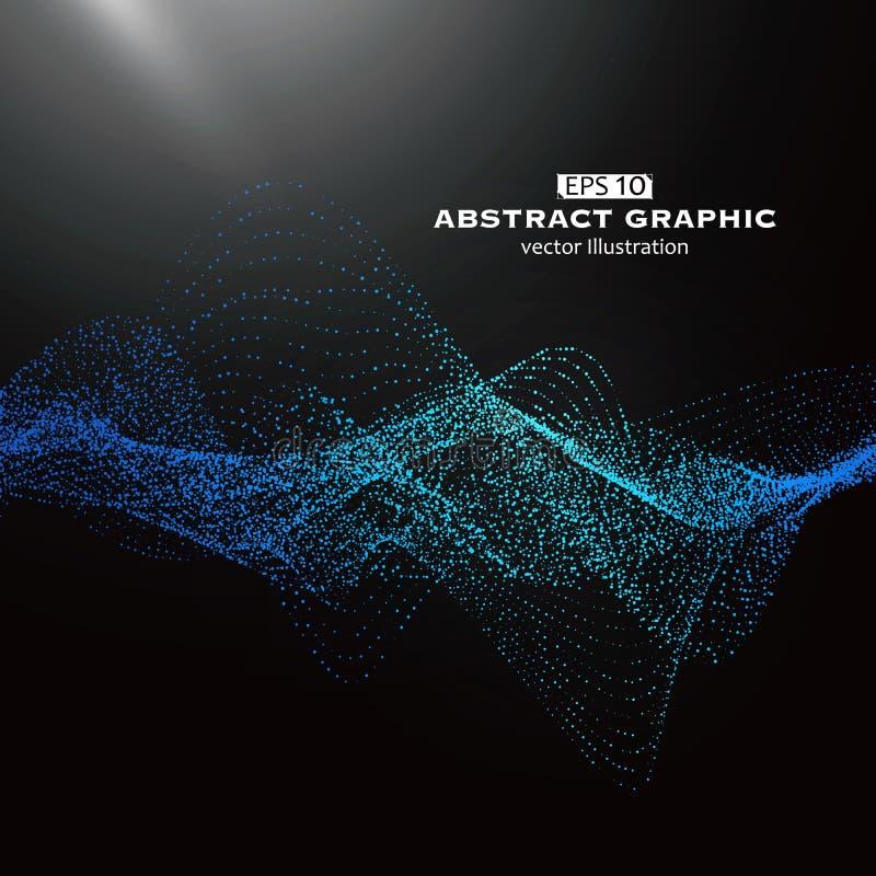 Puntpatroon uit netwerk, Technologische betekenis wordt samengesteld van abstracte grafiek die royalty-vrije illustratie