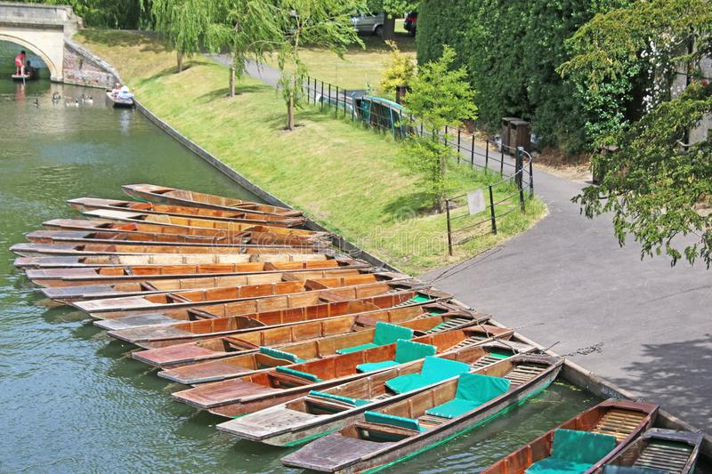 Punts on the River Cam stock images
