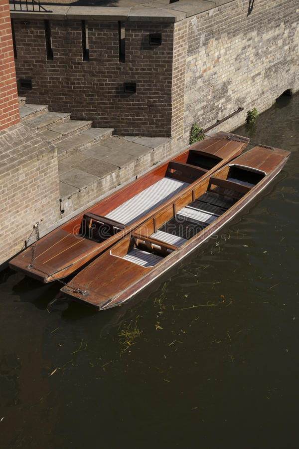 Punts on River Carn, Cambridge royalty free stock photo