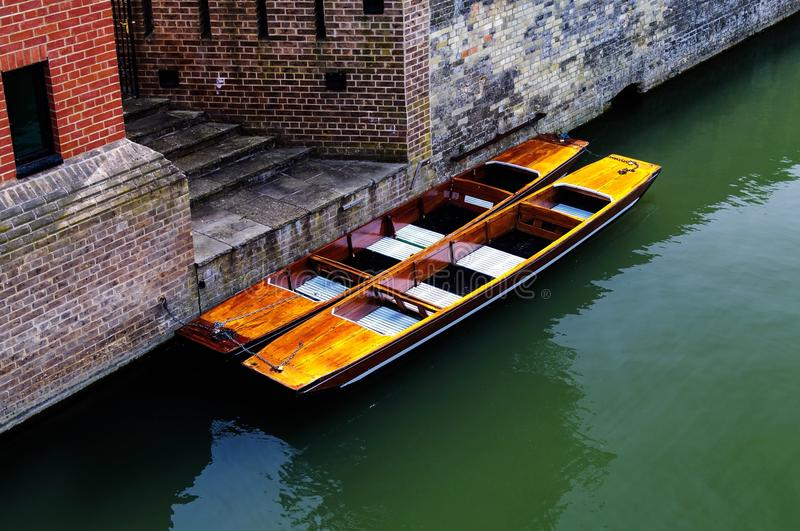 Punts on the river royalty free stock images