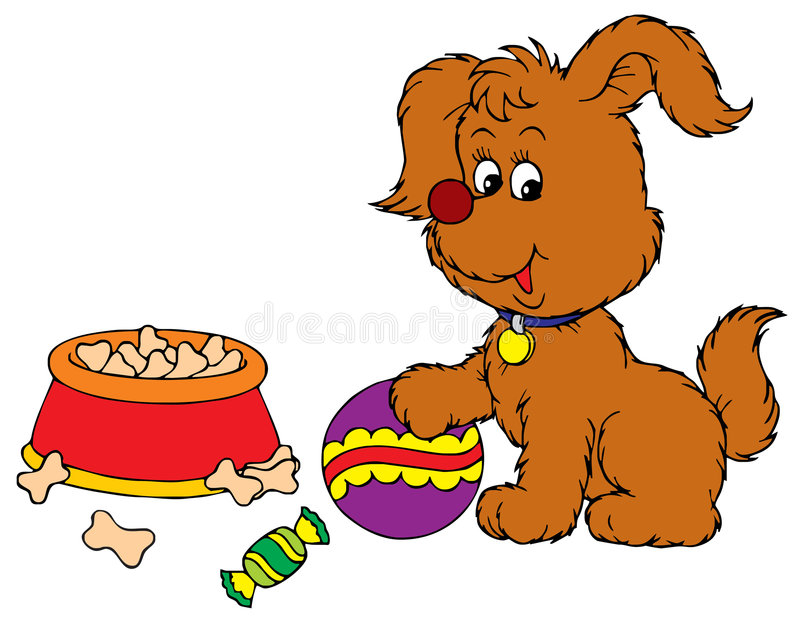 Download Pup stock vector. Image of fluffy, childish, line, curves - 3969662