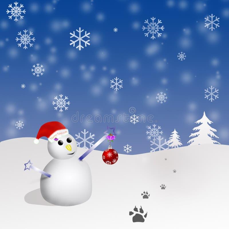 Download Pupazzo di neve illustrazione di stock. Illustrazione di decorativo - 7324924
